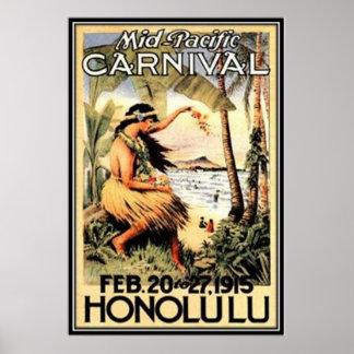 Vintage Hawaii, USA - Poster