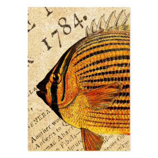 Vintage Hawaiian Butterfly Fish Customized Fishes Business Card