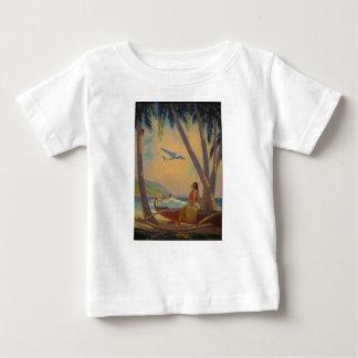 Vintage Hawaiian Travel - Hawaii Girl Dancer Baby T-Shirt