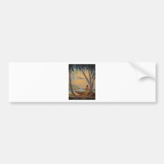 Vintage Hawaiian Travel - Hawaii Girl Dancer Bumper Sticker