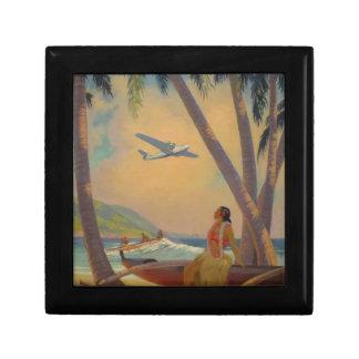 Vintage Hawaiian Travel - Hawaii Girl Dancer Gift Box