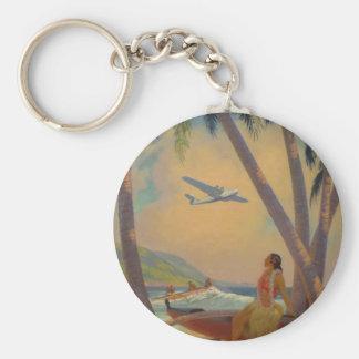 Vintage Hawaiian Travel - Hawaii Girl Dancer Keychain