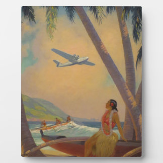 Vintage Hawaiian Travel - Hawaii Girl Dancer Plaque
