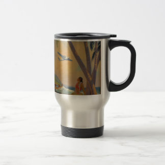Vintage Hawaiian Travel - Hawaii Girl Dancer Travel Mug