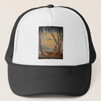 Vintage Hawaiian Travel - Hawaii Girl Dancer Trucker Hat
