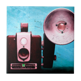 Vintage Hawkeye Brownie Camera Ceramic Tile