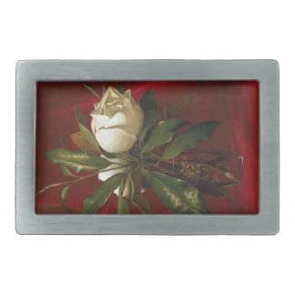 Vintage Heade Magnolia Flowers Floral Belt Buckle