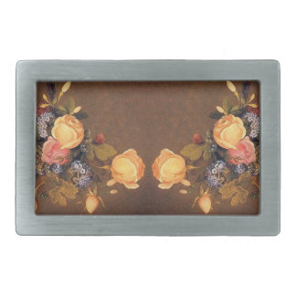 Vintage Heade Roses Flowers Floral Belt Buckle