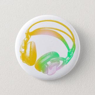 vintage headphones 2 inch round button