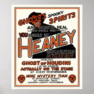 Vintage Heaney Spook Show Poster
