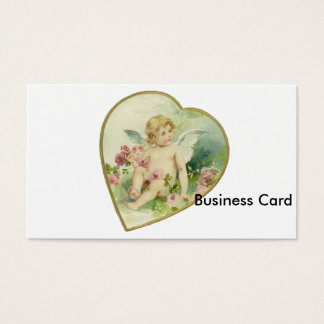 Vintage Heart and Cherub - Mother's Day/Valentine Business Card