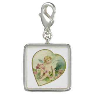 Vintage Heart and Cherub - Mother's Day/Valentine Photo Charms