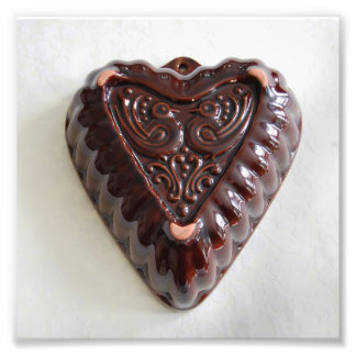 Vintage Heart Kugelhopf Mould Photo Print