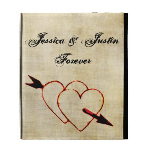 Vintage Hearts Lovely Custom iPad Case
