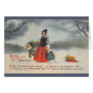 Vintage Hearty Christmas Greeting Card