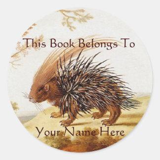 Vintage Hedgehog Sticker