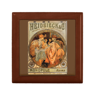 Vintage Heidsieck & Co Monopole Reims Wine Label Gift Box