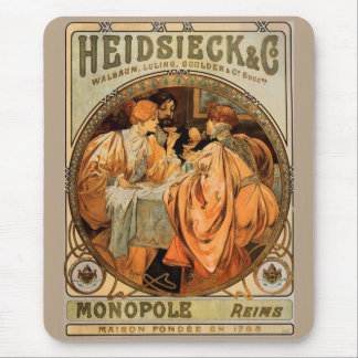 Vintage Heidsieck & Co Monopole Reims Wine Label Mouse Pad