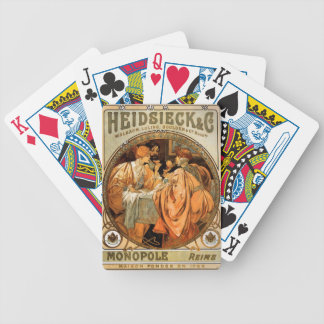 Vintage Heidsieck & Co Monopole Reims Wine Label Poker Deck