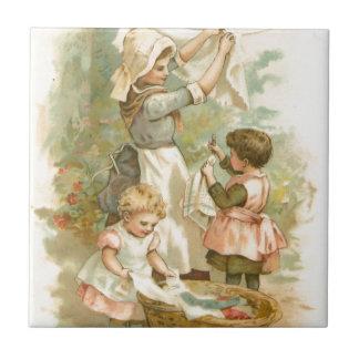 Vintage Helping Mother Tile
