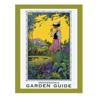 Vintage Henderson Garden Guide Postcard