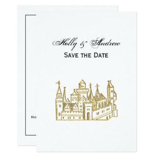 Vintage Heraldic Castle #2 Crest Faux Gold Card