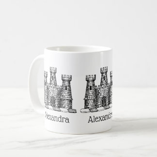 Vintage Heraldic Castle Emblem Coat of Arms Crest Coffee Mug