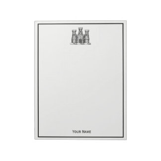 Vintage Heraldic Castle Emblem Coat of Arms Crest Notepad