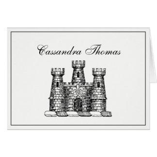 Vintage Heraldic Castle Emblem Coat of Arms Frame Card