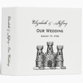 Vintage Heraldic Castle Emblem Wedding Binder