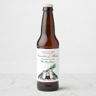 Vintage Heraldic Falcons With Hand Crest Emblem Beer Bottle Label