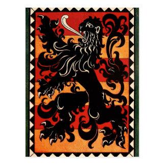 Vintage Heraldic Lion (Belgium) Postcard