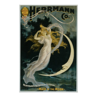 Vintage Herrmann Maid of the Moon Poster