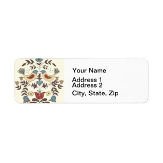 Vintage Hex Sign Amish Bird Country Return Address Label