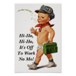 """Vintage """"hi ho"""" whistler Retirement Party Poster"""