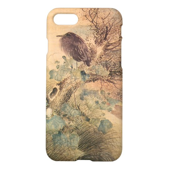 Vintage Hibiscus and Blue Heron iPhone 8/7 Case