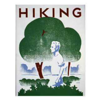 Vintage Hiking Recreation WPA Postcard