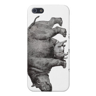 Vintage Hippo iPhone 4 Case