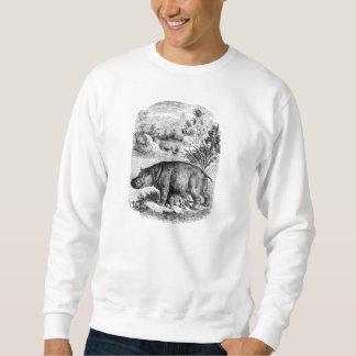 Vintage Hippopotamus Baby Personalized Retro Hippo Sweatshirt