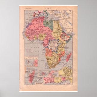 VIntage historic 1920   Africa Poster