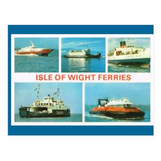 Vintage historic ships,  Isle of Wight Ferries Postcard