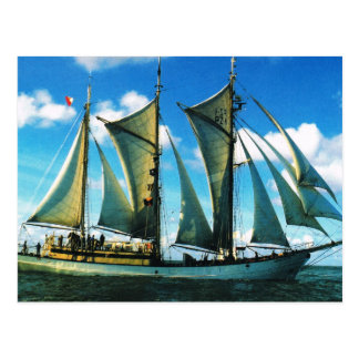 "Vintage historic ships, Poland, ""Zarwia Czarrny"" Postcard"