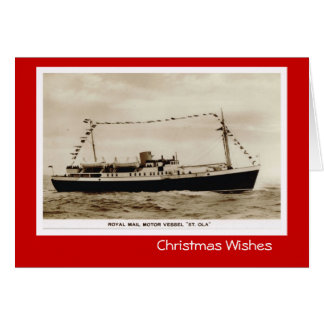 "Vintage historic ships,  Royal Mail ""St Ola"" Card"