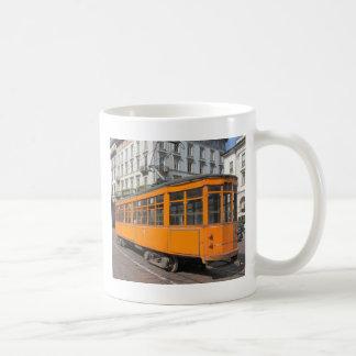 Vintage historical tramway train in Milan, Italy Coffee Mug