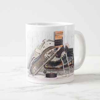 Vintage Hockey Goalie Skates Mask Jumbo Coffee Mug