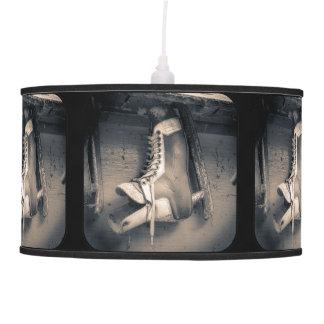 Vintage hockey skate pattern hanging pendant lamps
