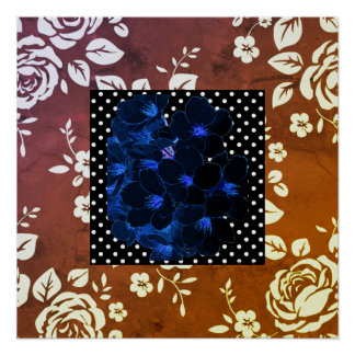 Vintage-Hodge-Podge(c) Mixed Retro Patterns_Cocoa- Poster