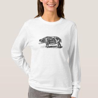 Vintage Hog Illustration - 1800's Pig Template T-Shirt