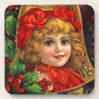 Vintage Holiday Bell Drink Coasters
