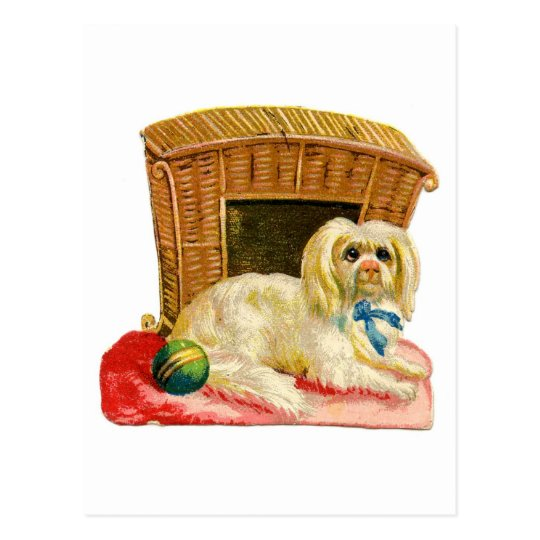 Vintage Holiday Dog Postcard